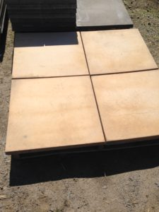 600mm x 600mm x 40mm thick concrete paver,sandstone color